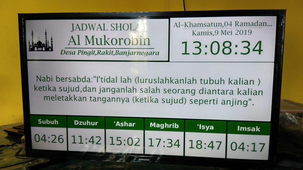 Jadwal Sholat Digital + hadist Banjarnegara