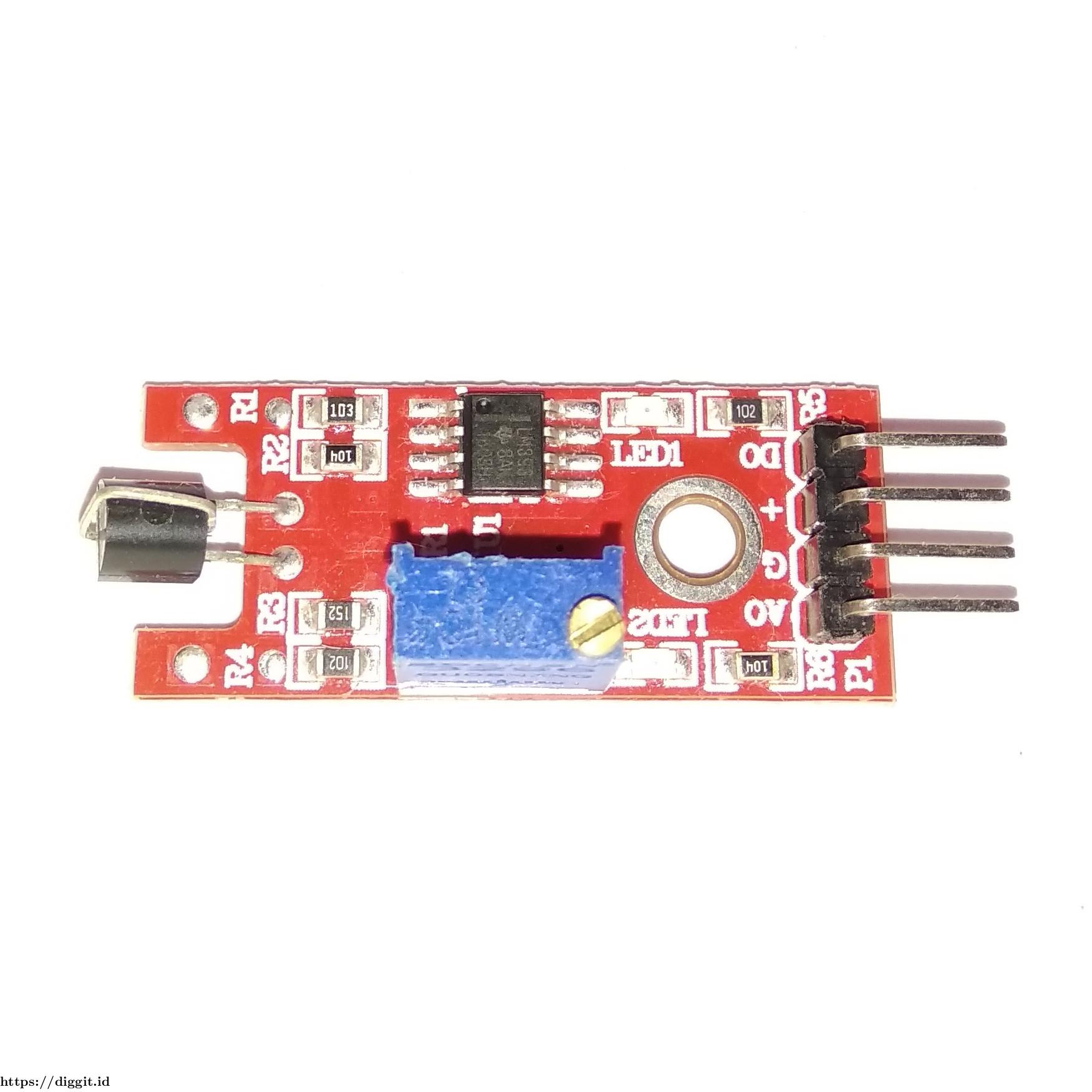 Gambar 1 Metal touch sensor module KY-036